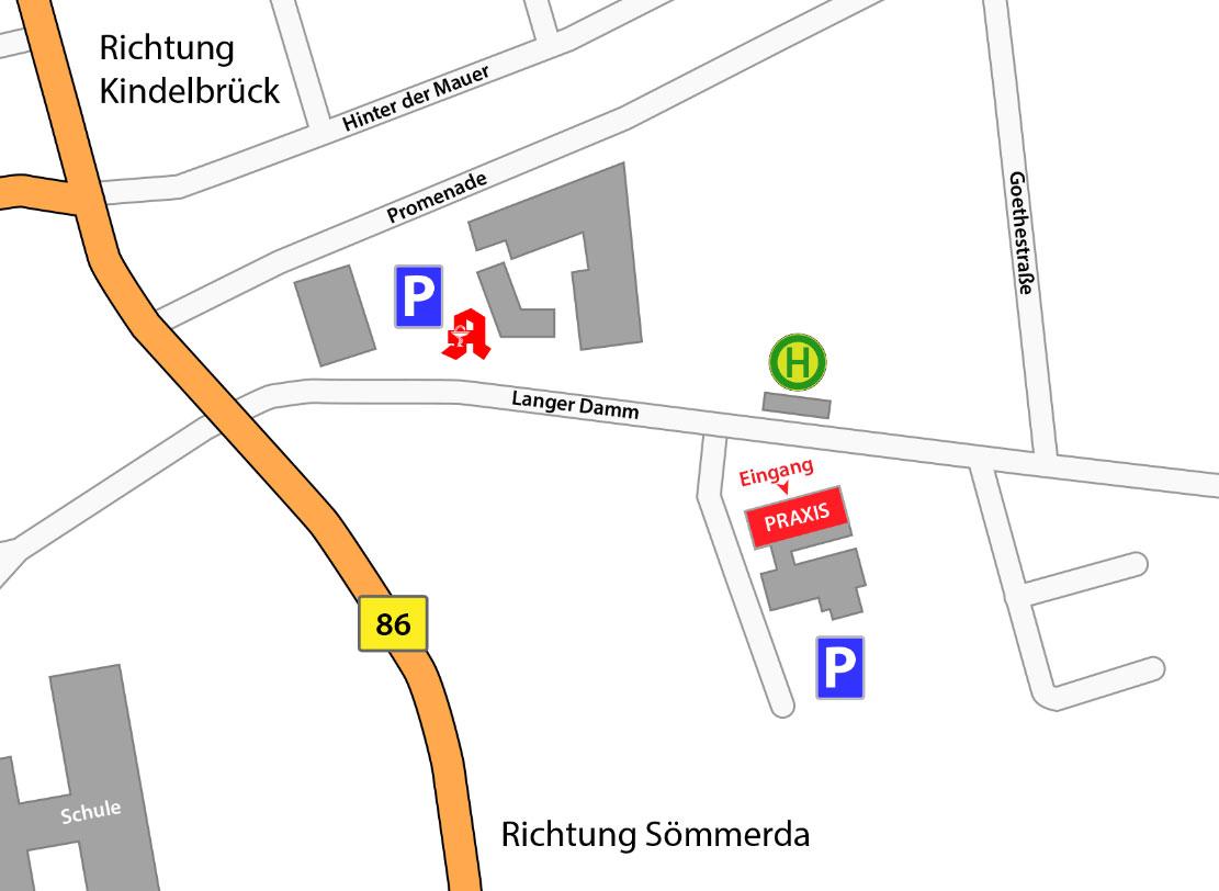 Straßenkarte Wegbeschreibung